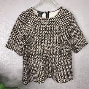 Lord & Taylor Peplum Exposed Zip Top Sz 2X Thick
